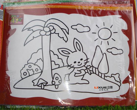 儿童水彩画 水彩画 大号水粉画 儿童 批发 儿童diy水彩画 阿里巴巴